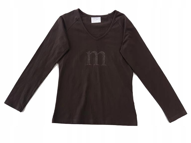 7865 MONNARI brązowa BLUZKA dżetowy logotyp M 38