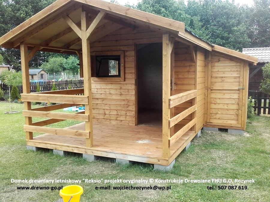 Poważne domek drewniany letniskowy Reksio 15m2 z montażem - 7636908787 DM02