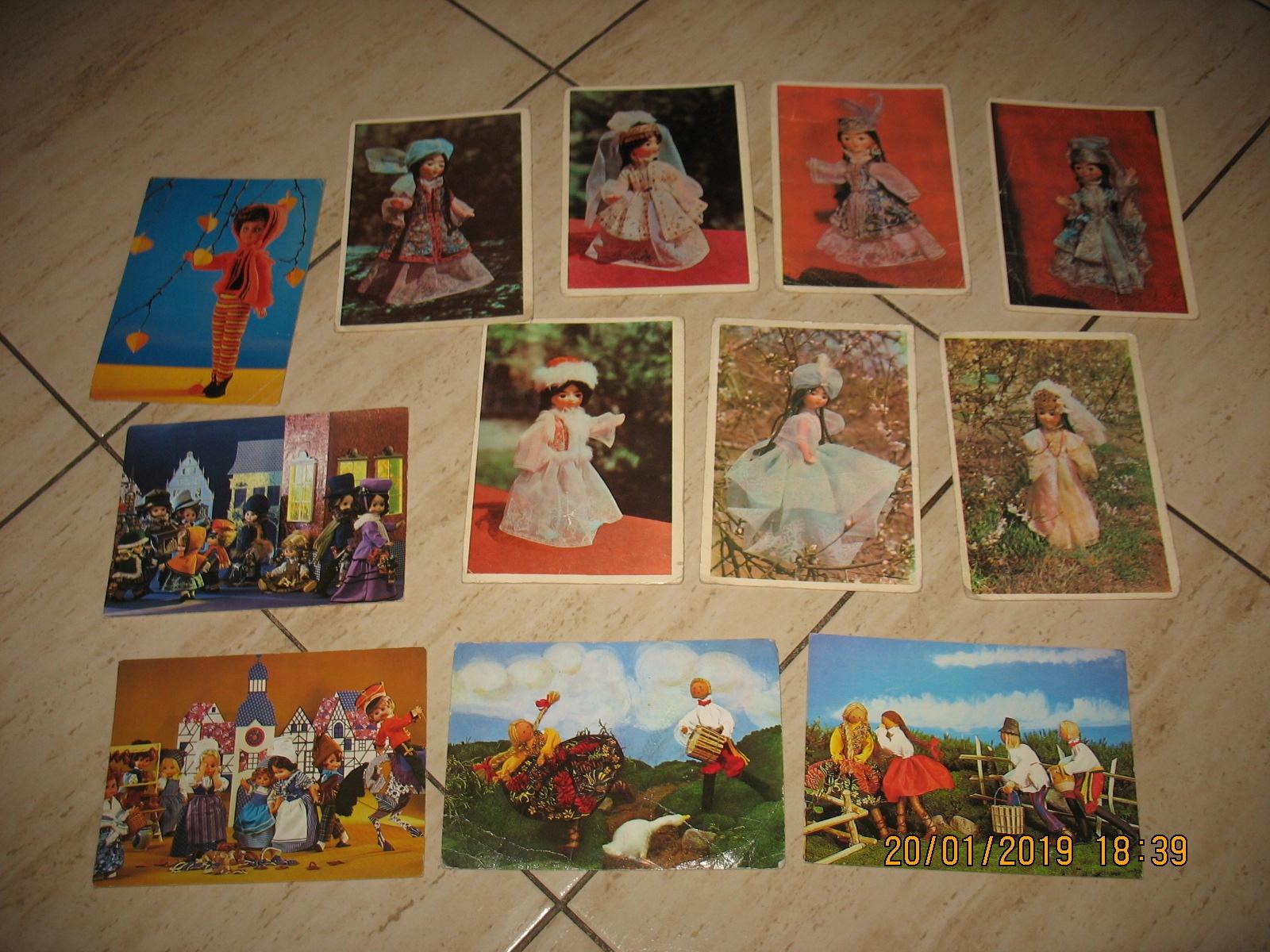 LALKA lalki PRL pocztówki Zestaw