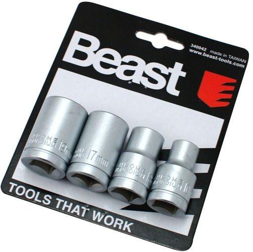 Zestaw nasadek 10 13 17 19mm 1/2 cala 340042