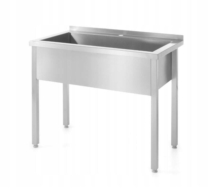 Stół z basenem jednokomorowym spawany Hendi 811832