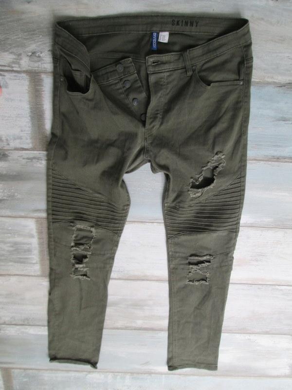 H&M___dziury rurki spodnie jeans męskie__36/34