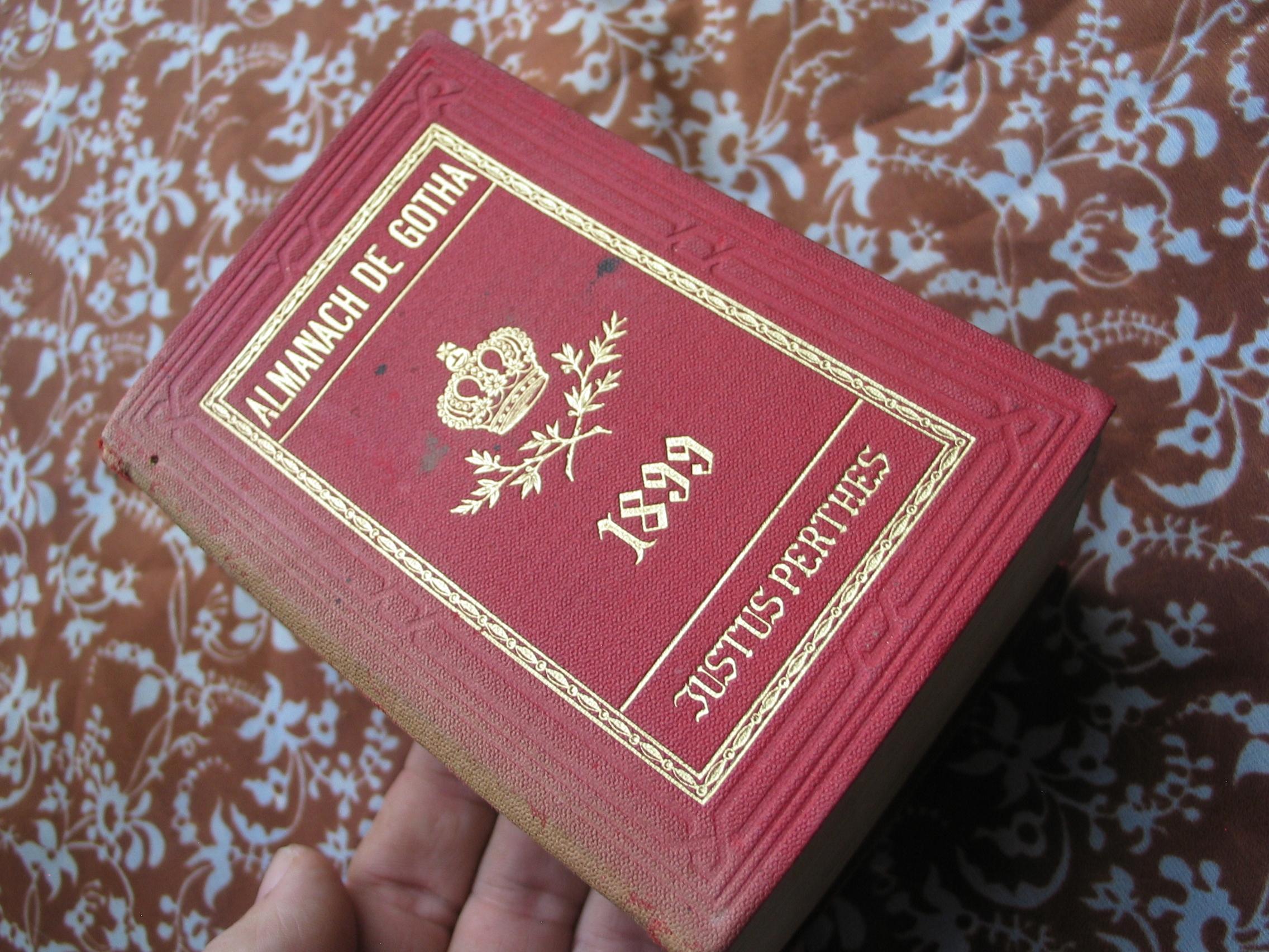 ALMANACH GOTHA genealogia ARYSTOKRAC 4 plansze1899