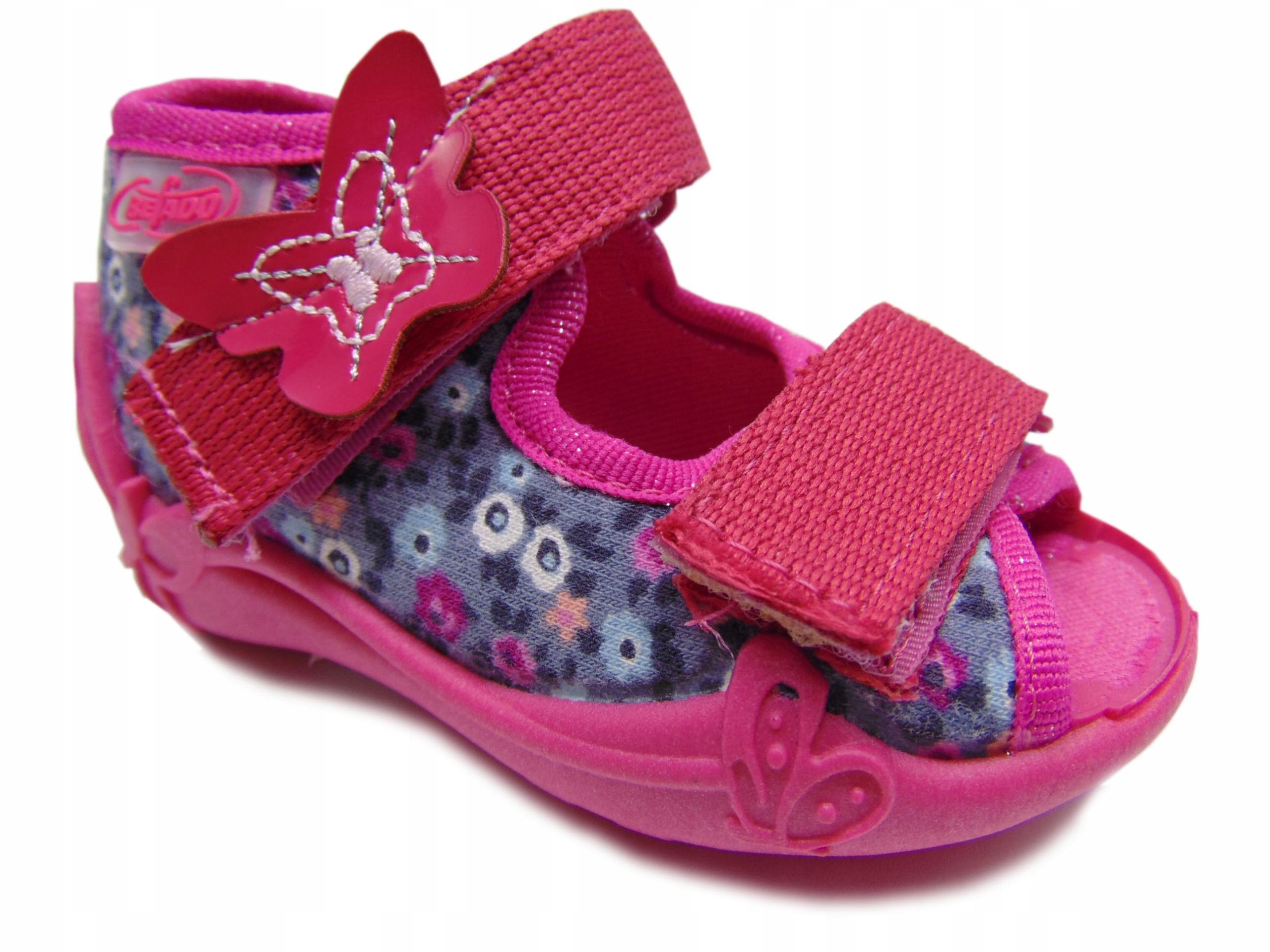 Befado 242P072 sandałki dziewczęce Różowo-szary 19