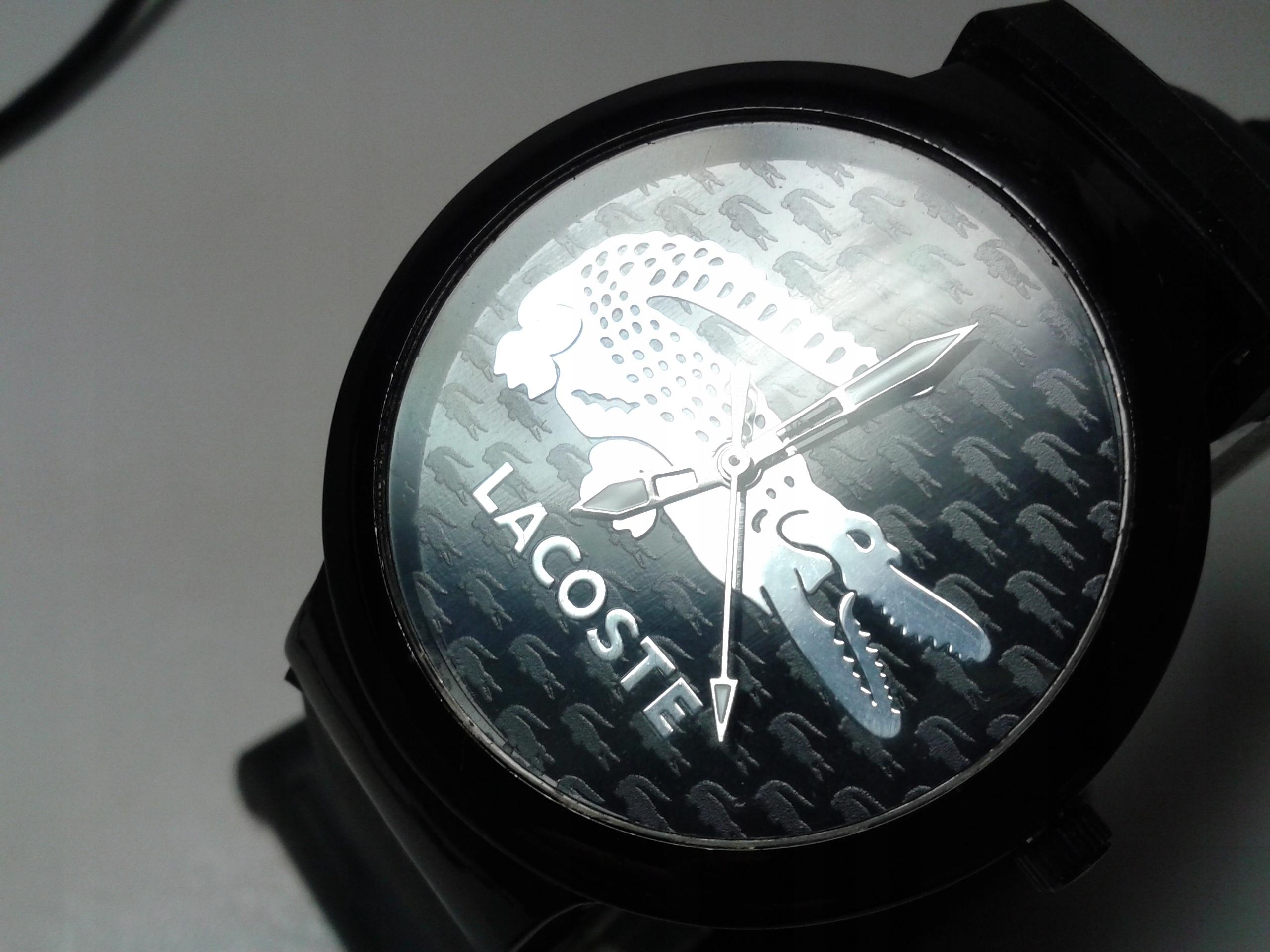 Zegarek LACOSTE Victoria srebrny krokodyl UNISEX