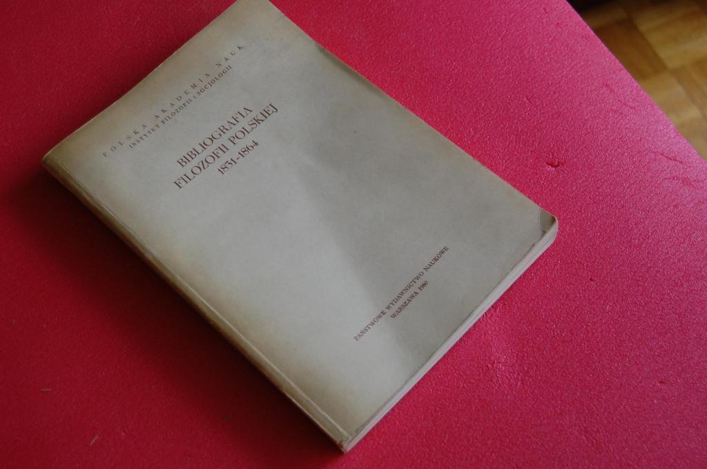 BIBLIOGRAFIA FILOZOFII POLSKIEJ 1831-1864
