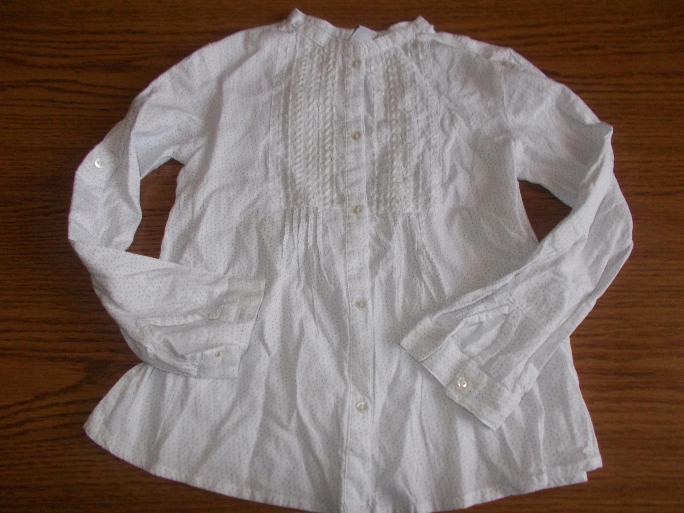 ZARA tunika koszulowa w groszki 110cm