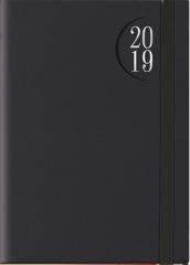 Kalendarz 2019 B7 Flex z gumką czarny