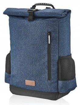 Plecak granatowy MOCOWANY na bagażnik, na ramiona