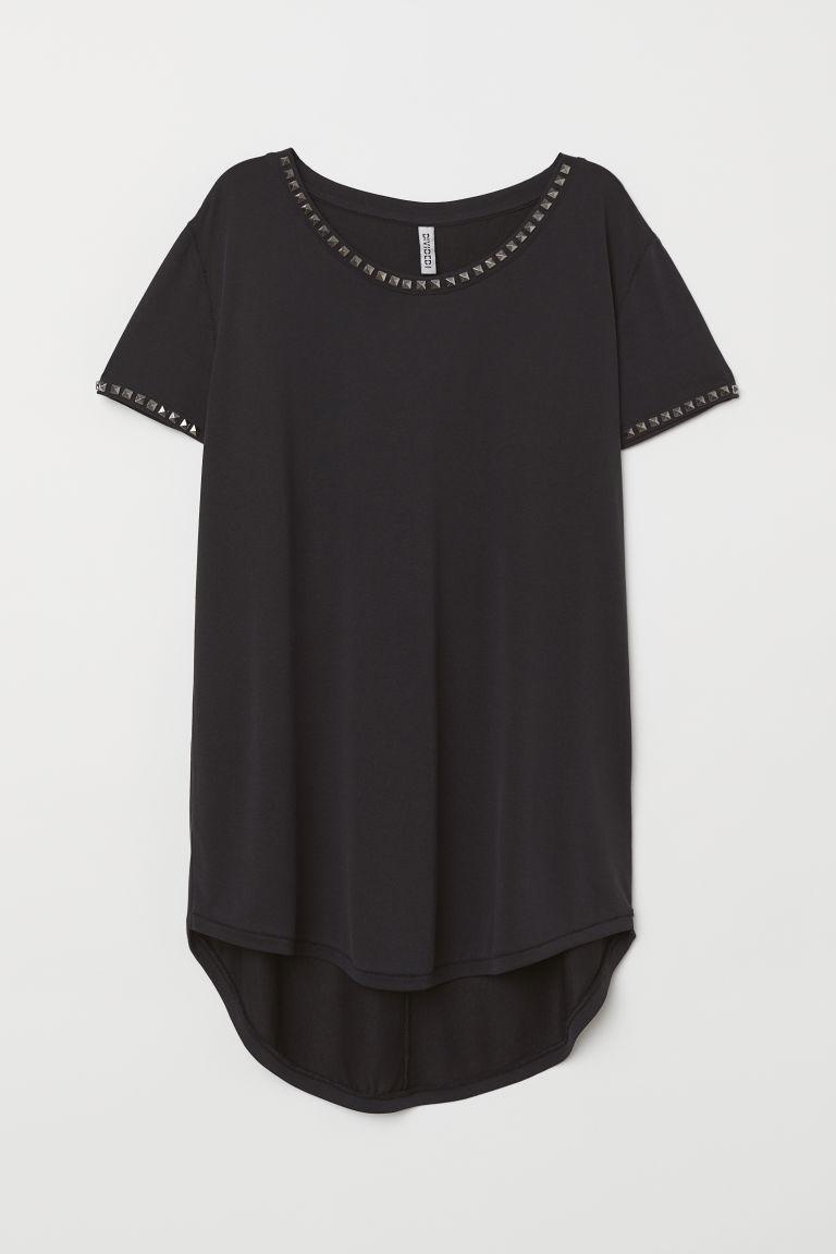 Bluzka z ćwiekami Długi Top H&M 34 XS Modal
