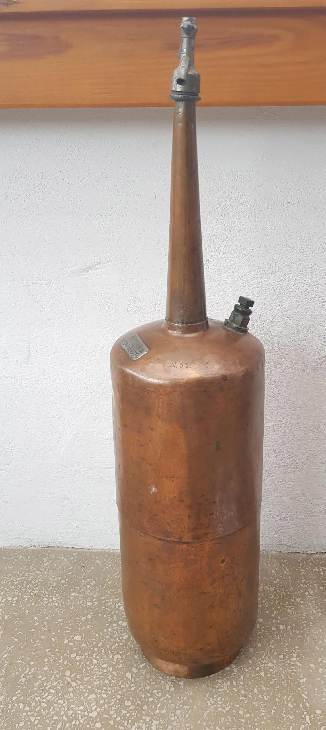Stary miedziany syfon WARSZAWA 1938 rok - OZDOBA