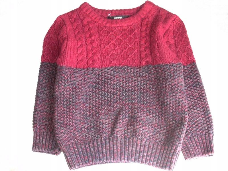 G E O R G E dwukolorowy sweterek 92/98