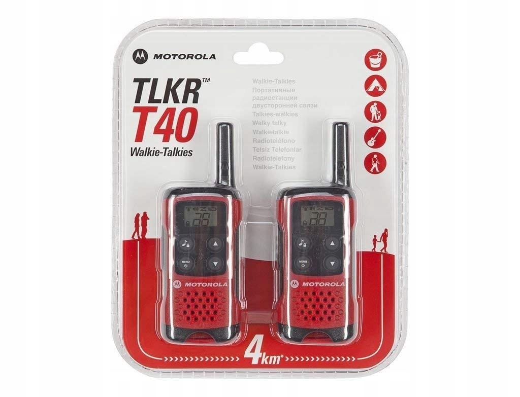 Krótkofalówki MOTOROLA TLKR T40 2szt