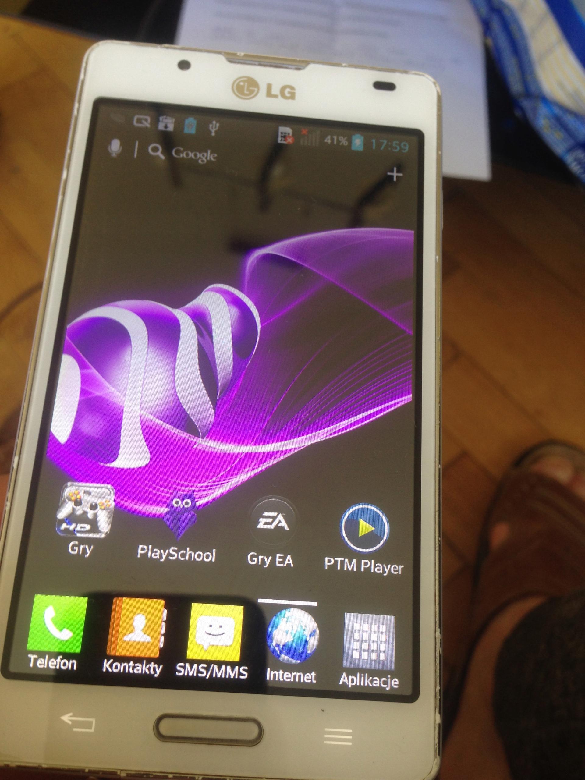 LG P710 Rama Korpus LCD Oryg