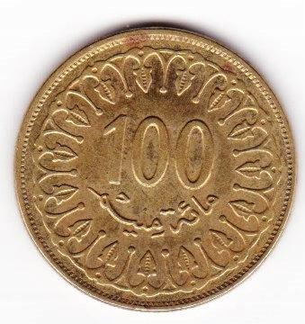 TUNEZJA, 100 milimow, 1429 ,(2008)