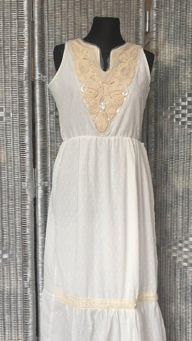 Włoska,bawełniana sukienka maxi w stylu boho,hafty