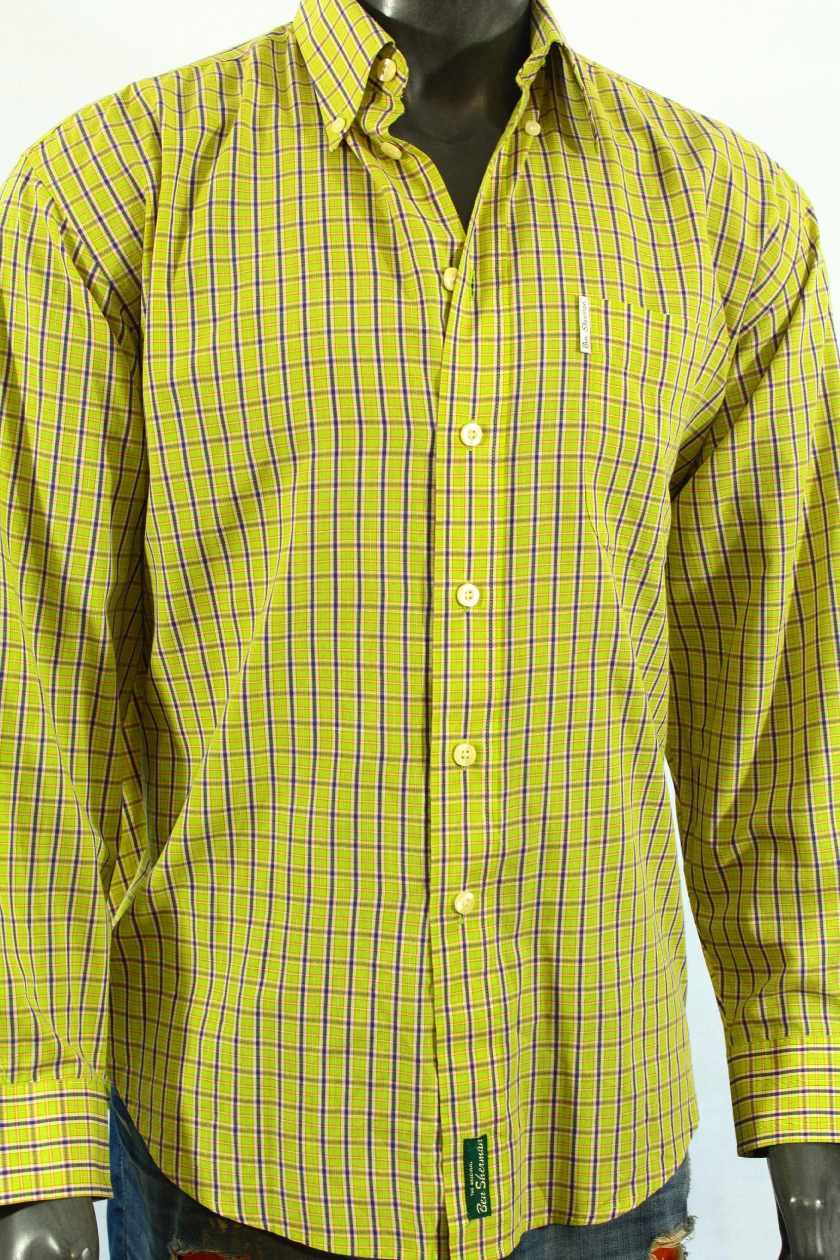BEN SHERMAN Koszula z wzorekiem logowana! L