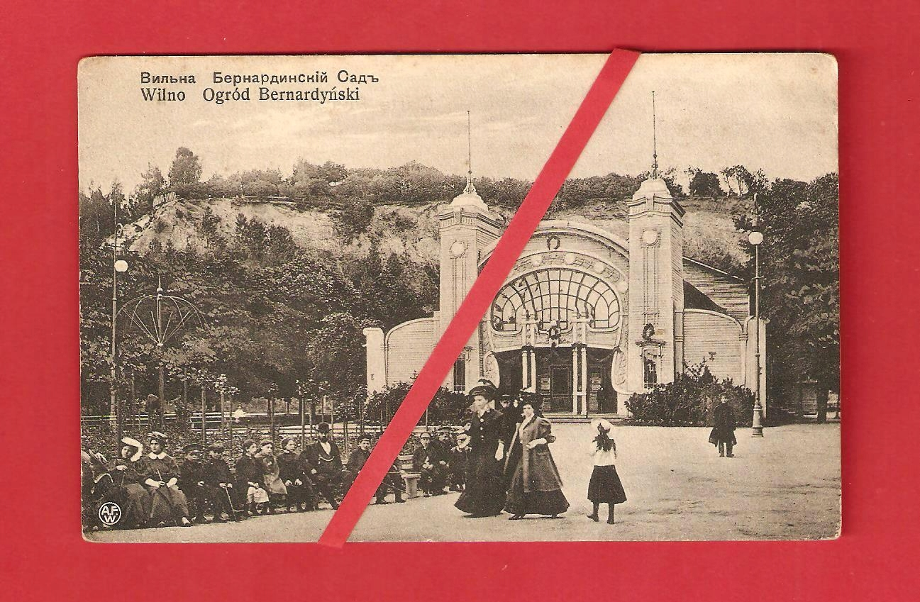 WILNO ok1910r Ogród bernardyński Fiałko