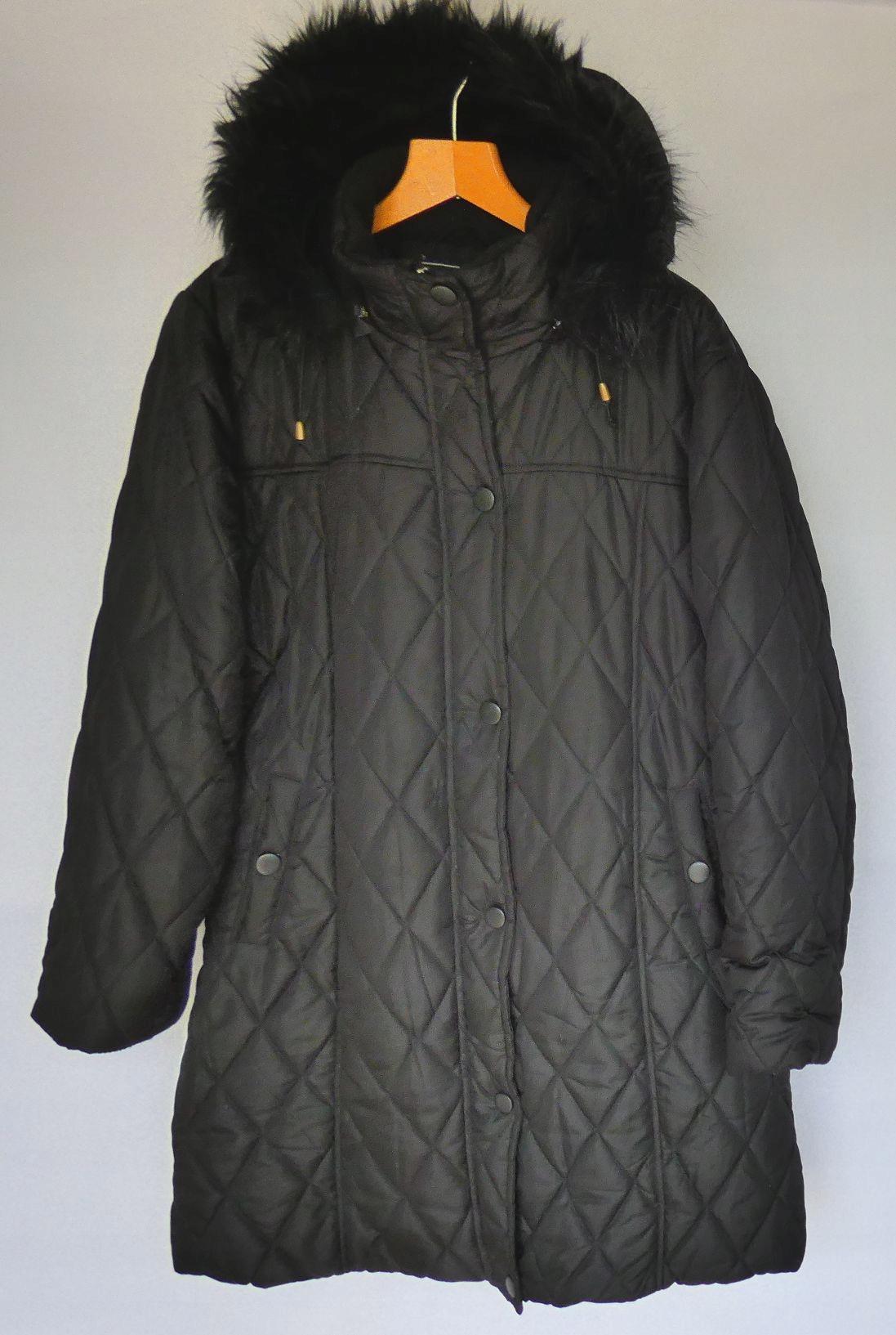 2ed04c247c626 Długa kurtka pikowana z kapturem 48 - 7645239439 - oficjalne ...