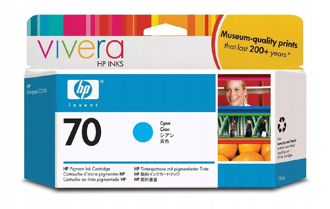 HP INC. Tusz nr 70 Błękitny (Cyjan) 130ml C9452A