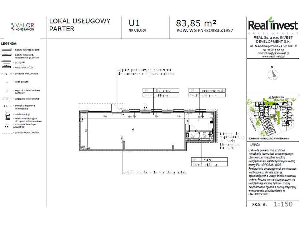 Lokal usługowy 84 m2 - Konstancin Jeziorn