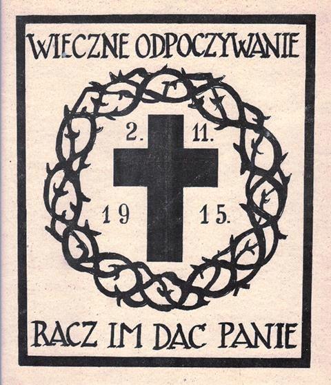 NALEPKA OKIENNA. WIECZNE ODPOCZYWANIE 1915