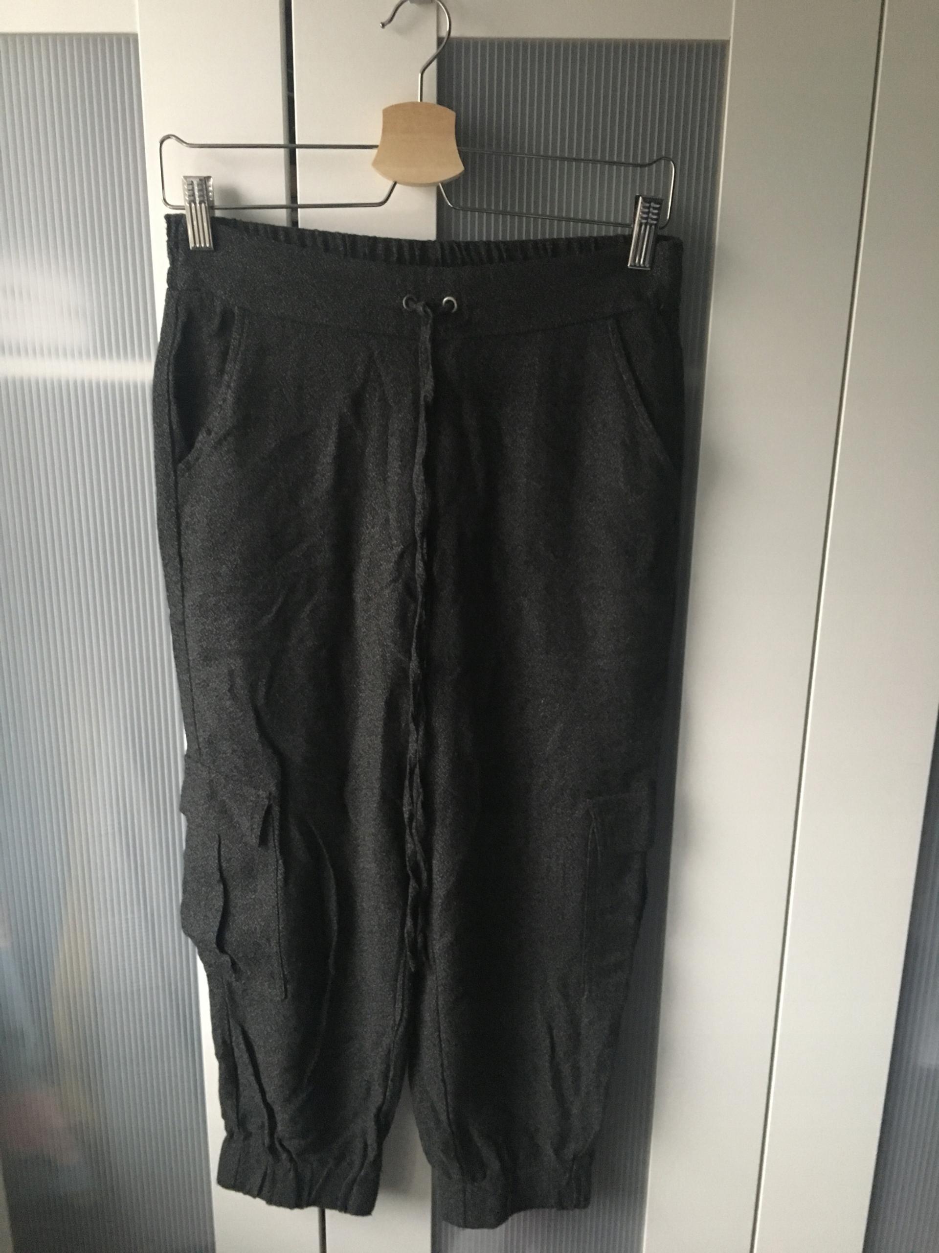 MANGO spodnie baggy szare kieszenie jak ZARA 34/XS