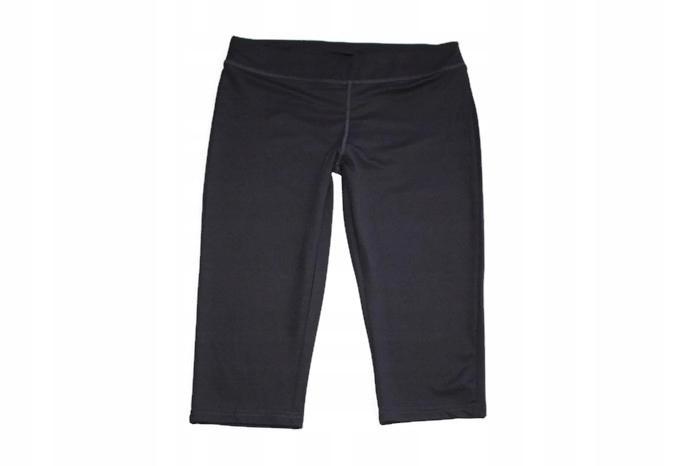 SP268*CRANE*Czarne spodnie 3 / 4 elastyczne M40-42