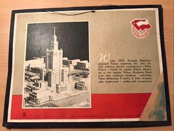 Tablica propaganda PRL Pałac Kultury PKiN Warszawa