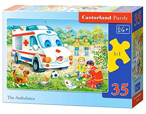 Castorland The Ambulance Midi Jigsaw (35-Piece)