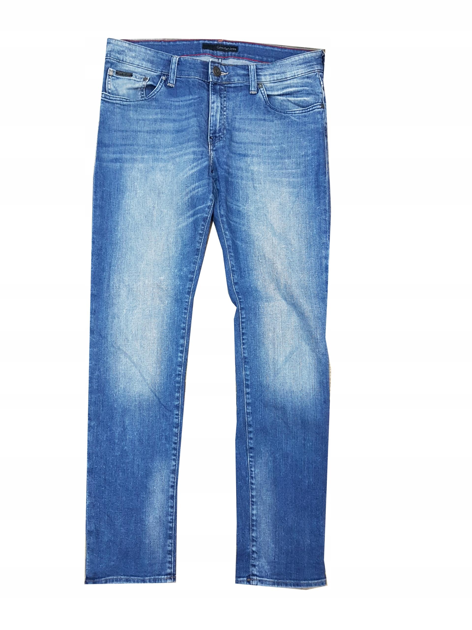 CALVIN KLEIN JEANS Slim jeansy 34/32 pas 90