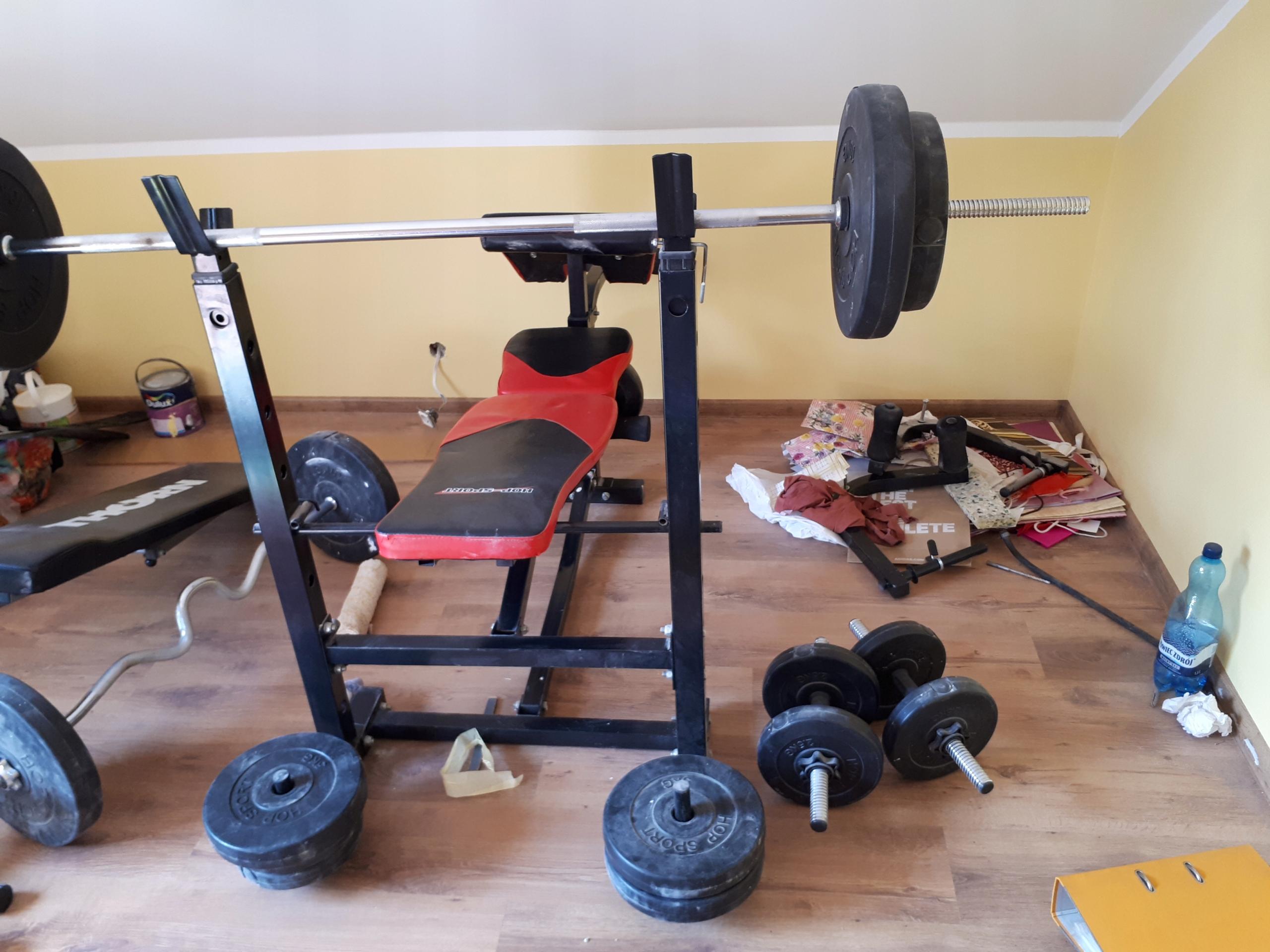 siłownia,ławka,sztanga,zestaw