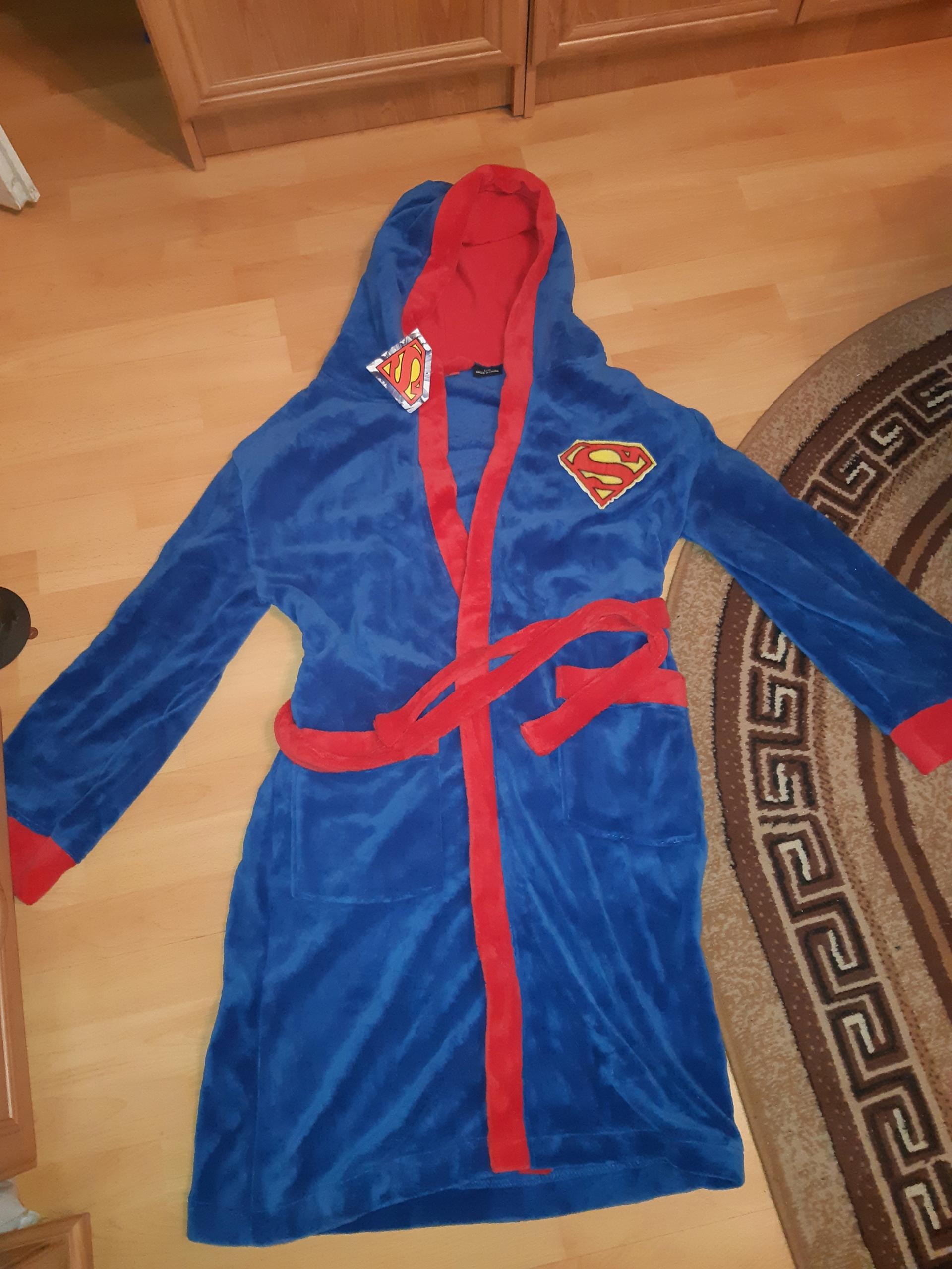 MĘSKI SZLAFROK SUPERMAN ROZ. L/XL NAJTANIEJ KRAKÓW