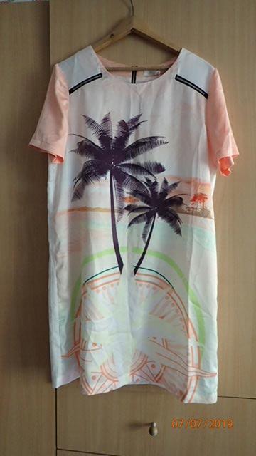 Letnia sukienka palmy roz XL nowa WYSYŁKA GRATIS!