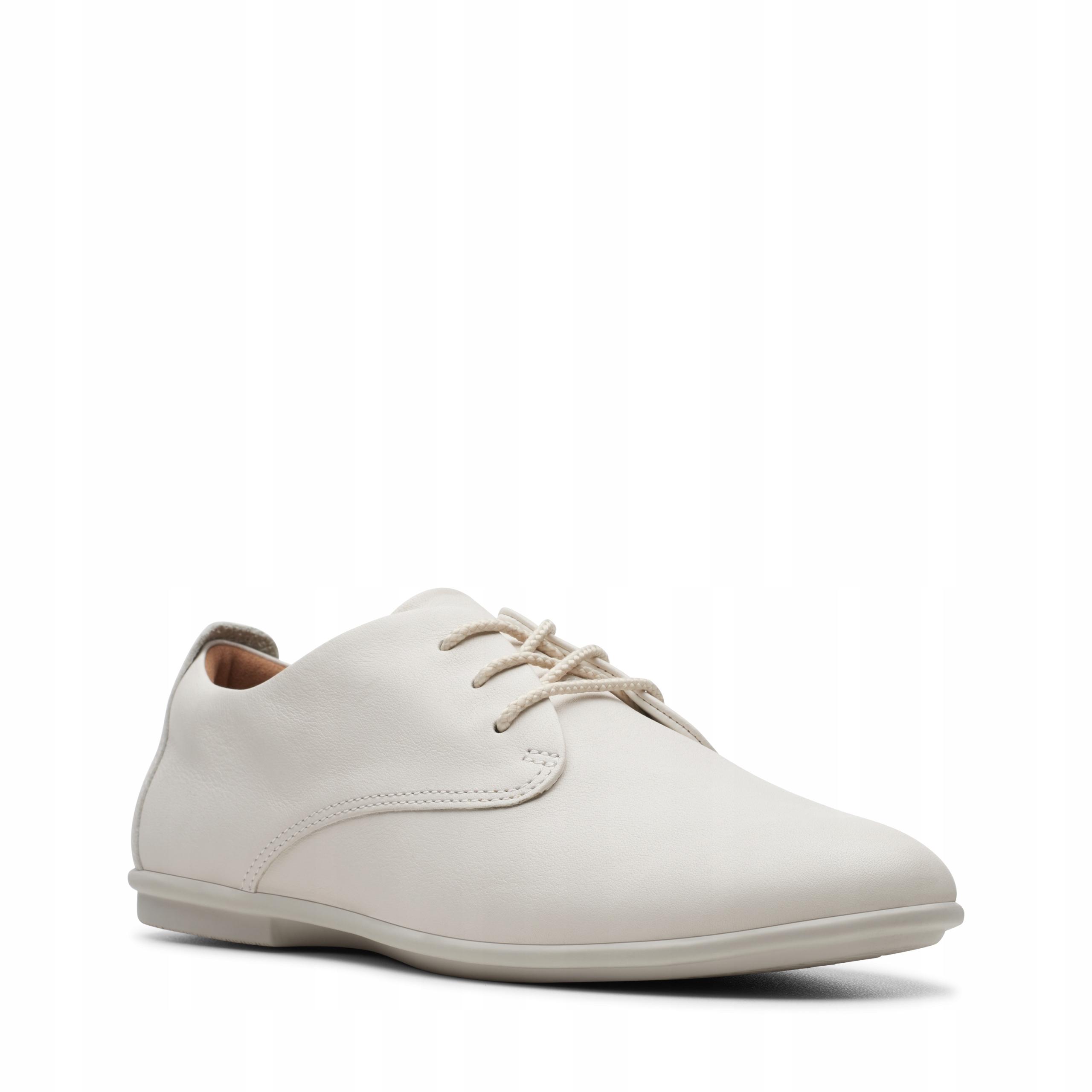 PÓŁBUTY CLARKS UN CORAL LACE White Leather 40