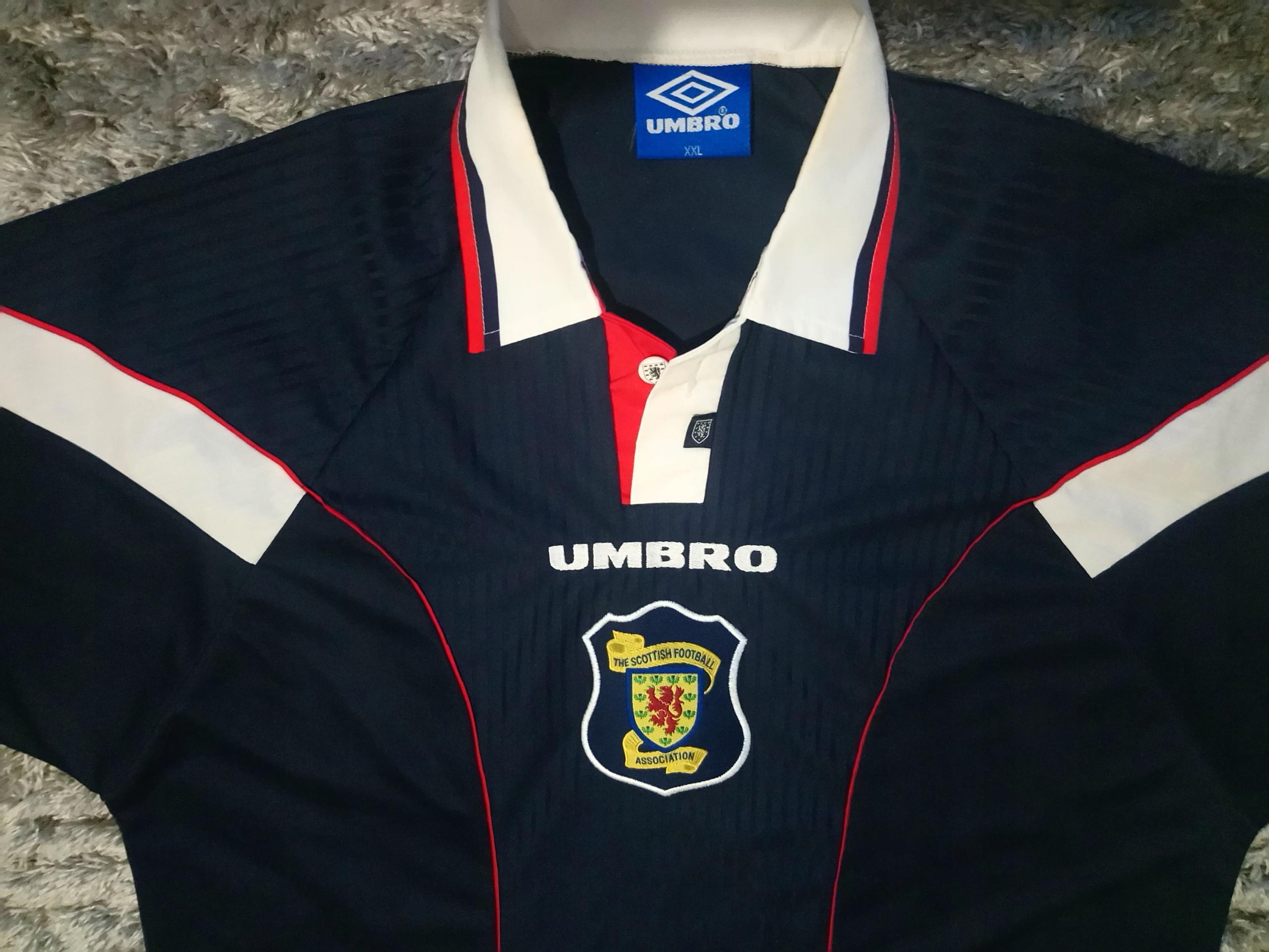 Umbro Szkocja Koszulka Piłkarska IDEAŁ