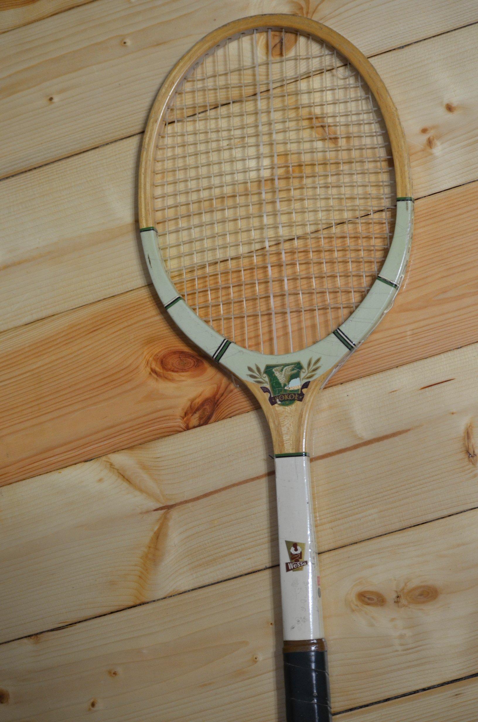 Rakieta do tenisa Sokół vintage drewno Wess