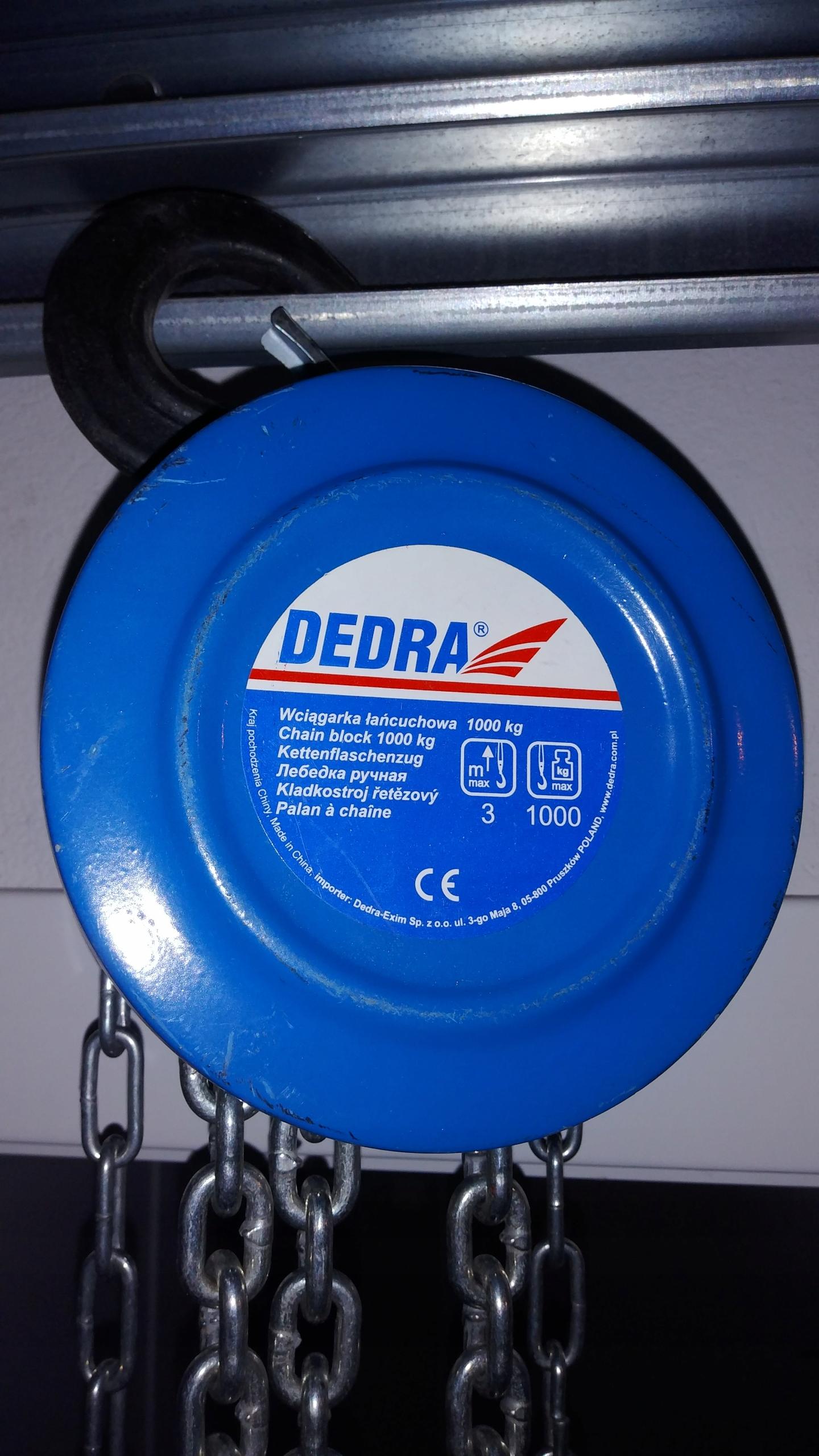 Wyciagarka łańcuchowa DEDRA 1T 3 metry