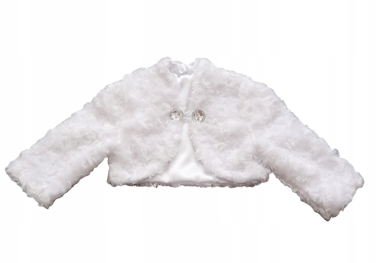 Bolerko na chrzest CHRZCINY sweterek 86