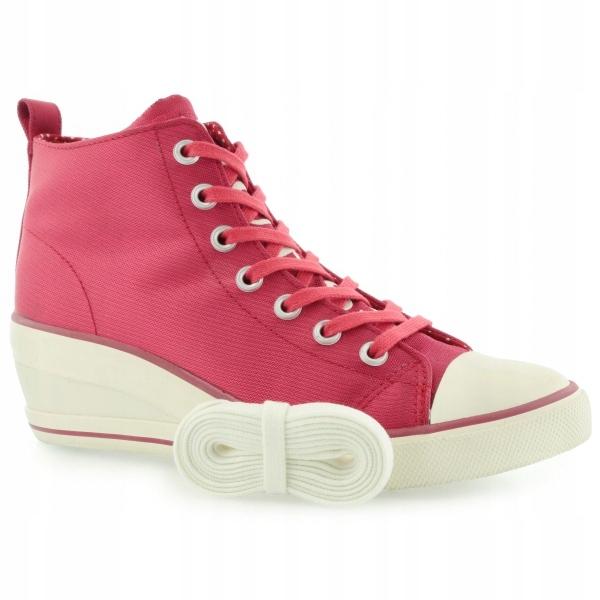 204cb66fde767 WYPRZEDAŻ różowe TRAMPKI buty GUESS na koturnie 41 - 7693508740 ...