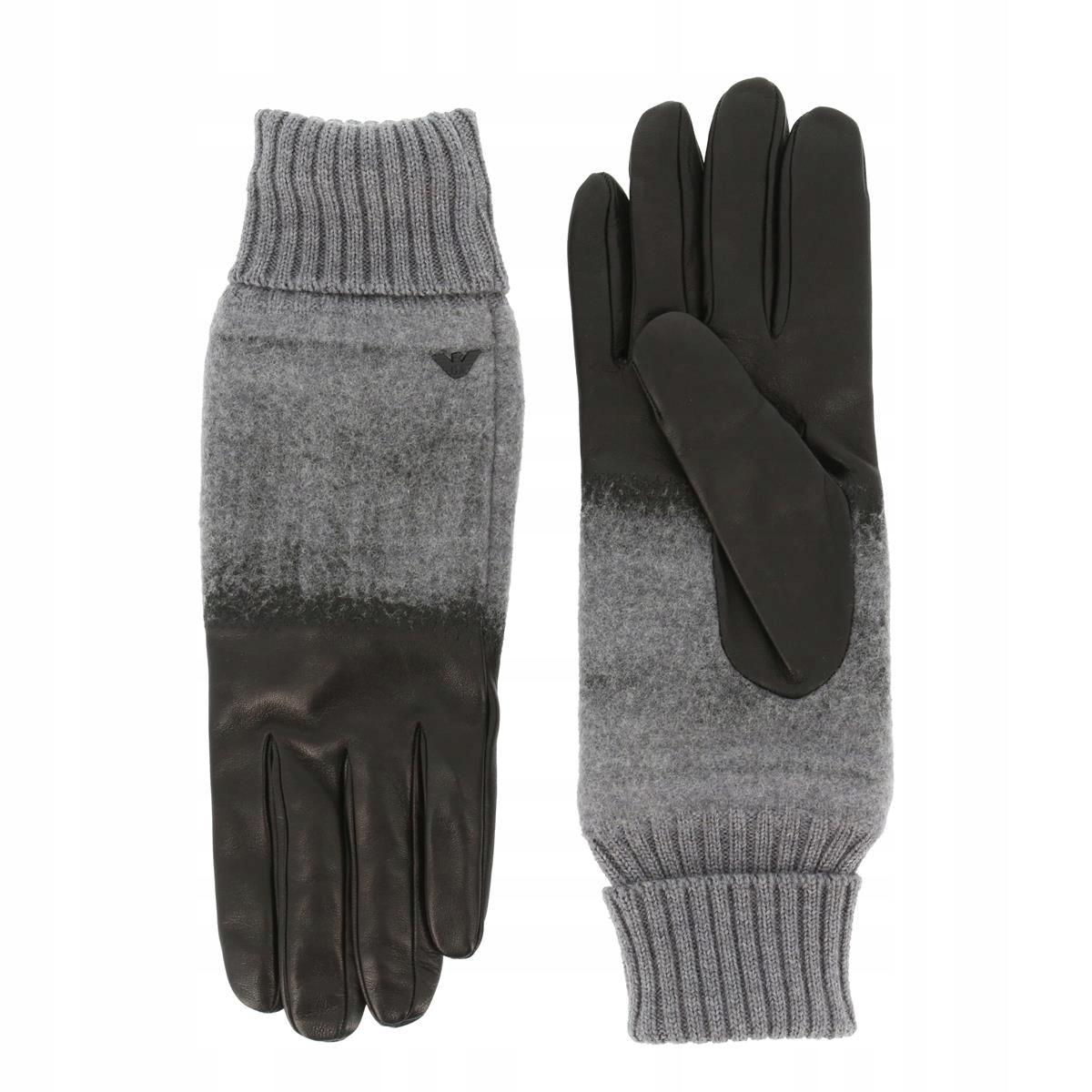 Emporio Armani męskie rękawice szary XL