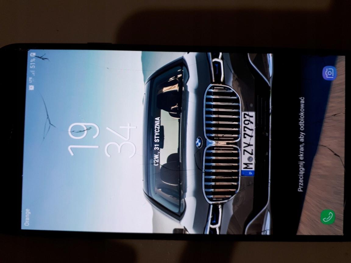 Samsung J7 Uszkodzony wyświetlacz. Sprawny, działa