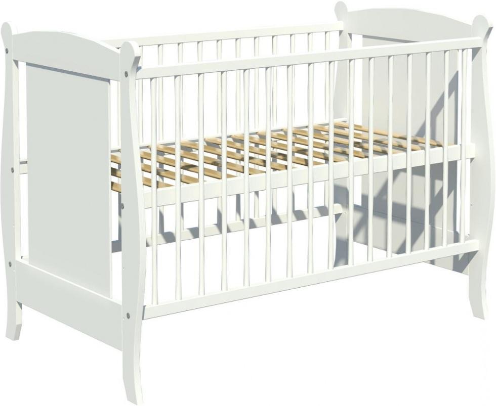 Łóżeczko dziecięce LAURA 120x60cm białe