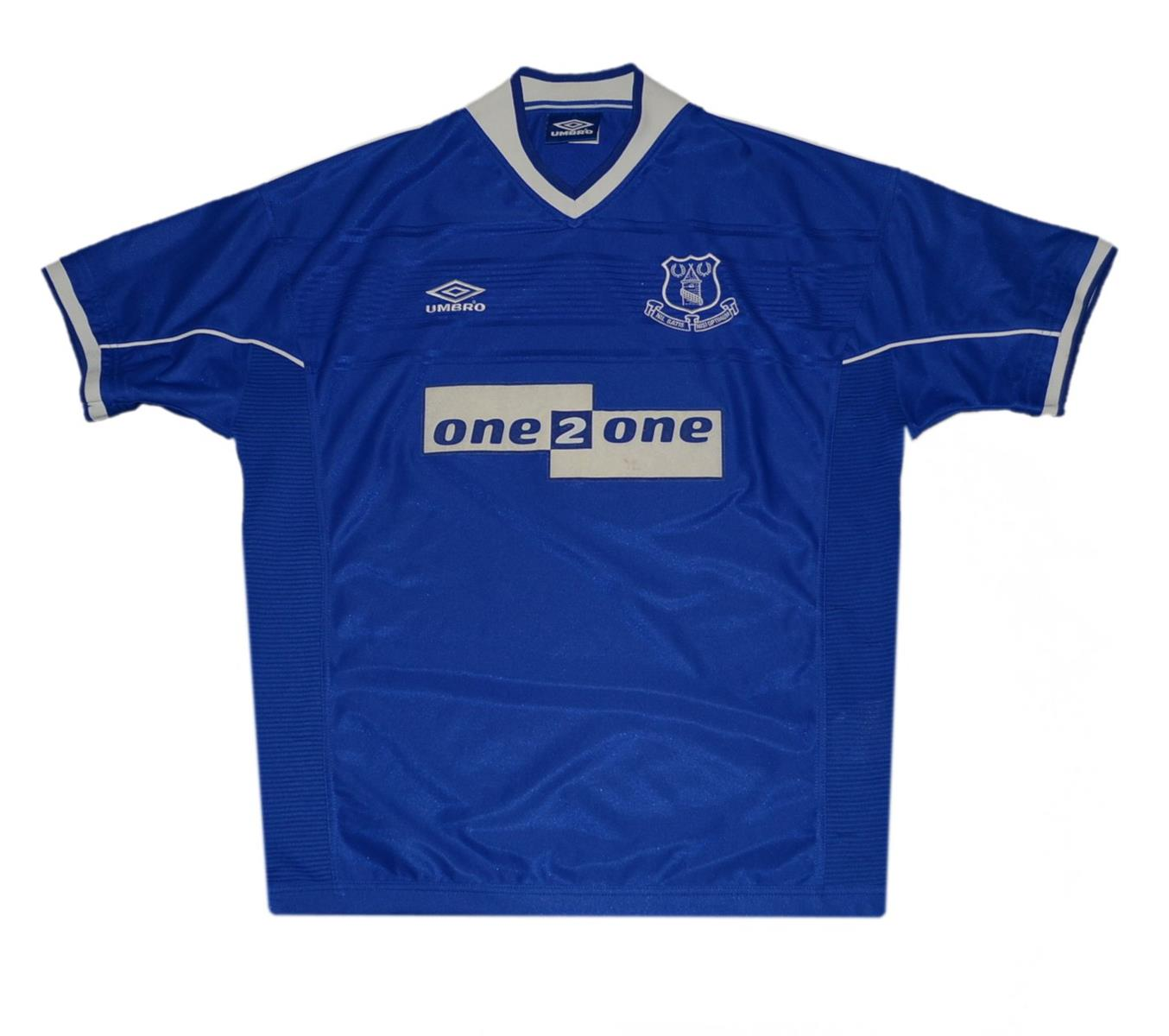 UMBRO EVERTON 1999/2000 HOME JERSEY XL