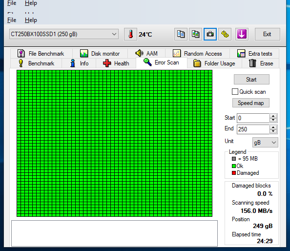 250GB SSD Crucial BX100 CT250BX100SSD1