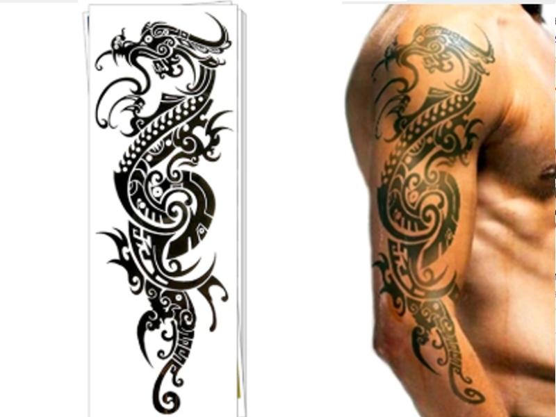 Tatuaż Zmywalny Henna Smok Dragon Tymczasowy