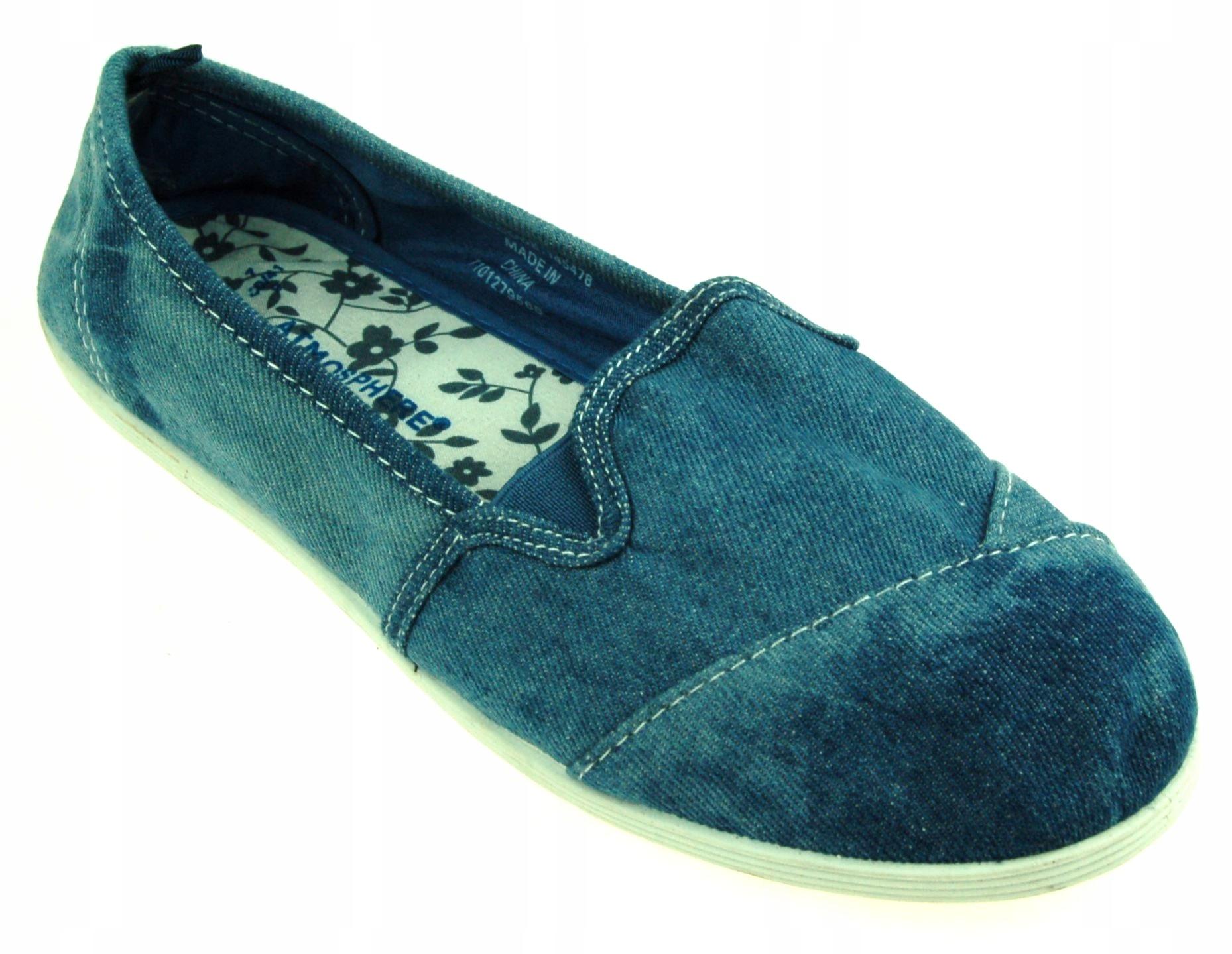 ATMOSPHERE 40 DAMSKIE trampki jeans slip-on 4S1792