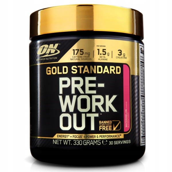 ON Gold Standard PreWorkout - 330g jabłko