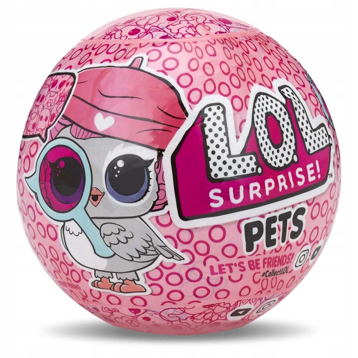 Oryginalne LOL Surprise Pets Zwierzątko w Kuli MGA