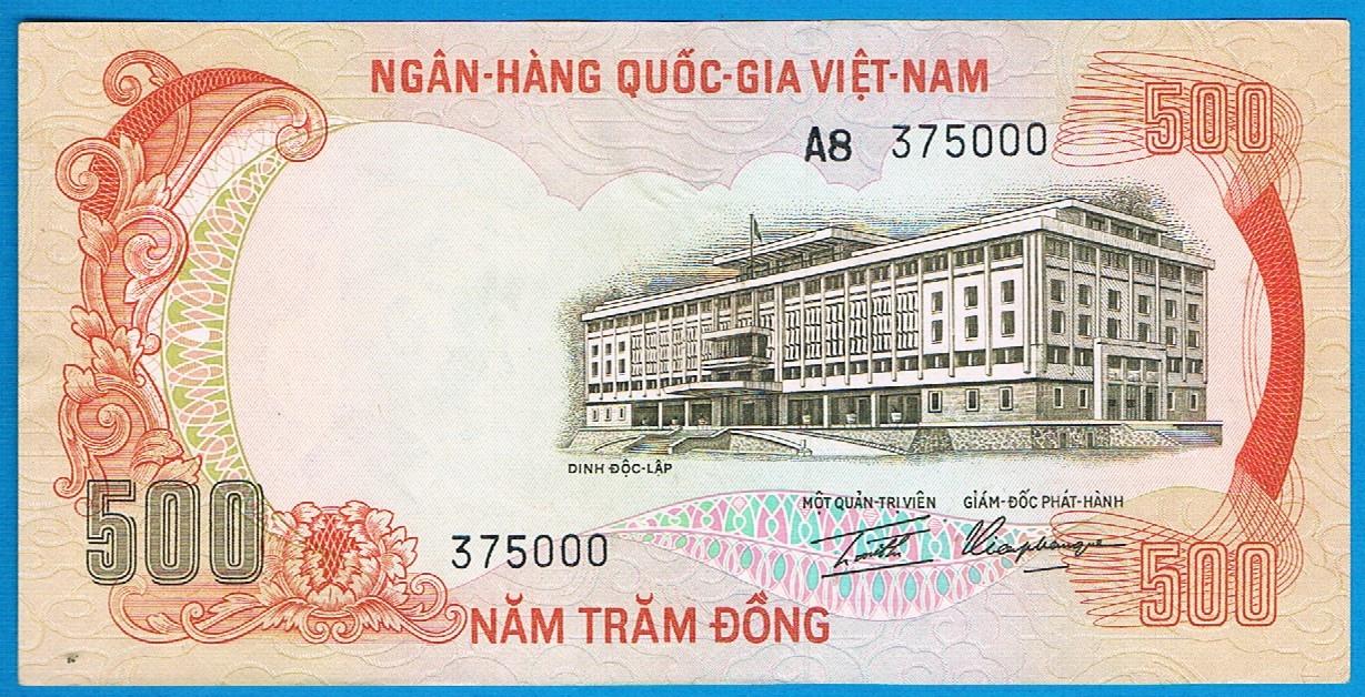 Wietnam 500 dong rok (1972) P.33a stan 3+